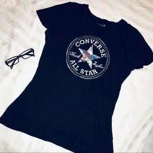 NWOT black converse t shirt